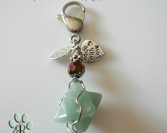 Aventurine pet amulet - to treat Fear and nervousness- Merkabbah aventurine