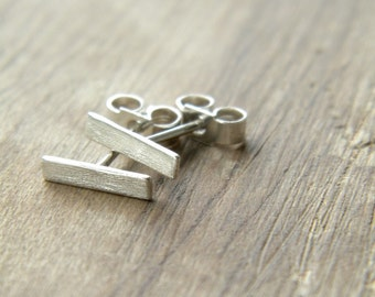 Minimal Studs - minimal, modern sterling silver studs, geometric, made in Italy