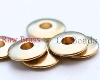 10pcs Raw Brass Donut Spacer- 12mm (1723C-U-112)
