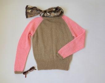 Cute Raglan Sweater PDF Knitting pattern