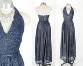 RESERVED Vintage 60's Designer Dress // Jonathan Logan Dress // Lurex Halter // Floor Length Evening Gown // Deadstock - sz XS