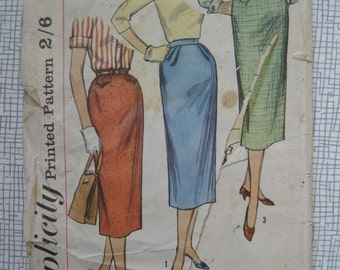 "1950s One Yard Skirt Sewing Pattern - 28"" Waist - Simplicity 2191"