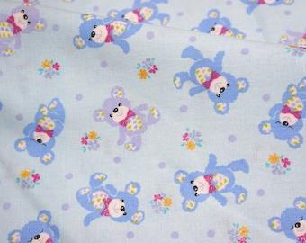 SALE Japanese fabric Bear  print A6