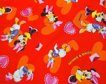 Disney licensed fabric  Cartoon Minnie Mouse and Daisy nc44