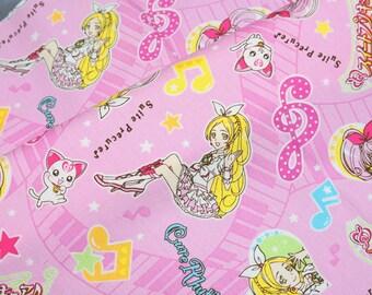 Suite Precure  fabric Anime print Japanese fabric fat quarter  (n431)