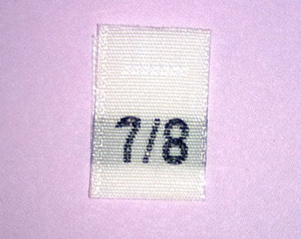 Size 7/8 (Seven-Eight) Woven Clothing Size Tags (Package of 50)