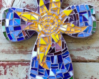 Mosaic Cross with Sun in center