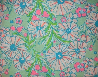 New memo board made with Lilly Pulitzer Splish Splash fabric