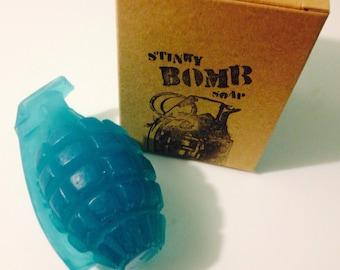 Honey Almond Bombs Grenade Soap by Stinkybomb Soap