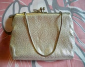 Vintage 1960s Harry Levine Silver Evening Purse Clutch Bag HL Handbag