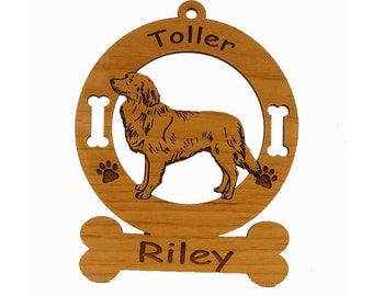 3622 Toller Standing Personalized Wood Ornament