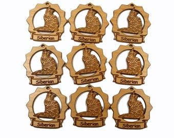 9 Mini Siberian Cat Ornaments