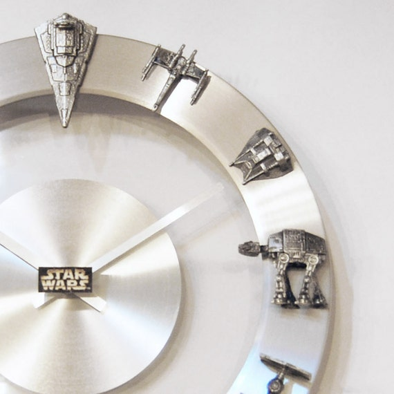 star wars starships and fighters clock. Black Bedroom Furniture Sets. Home Design Ideas
