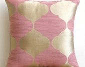 Decorative Throw Pillow Cover Couch Pillows Sofa Pillow Bed Pillow Toss Pillow 16 x 16 Pink Pillow Case Bedding Pink Lotus Home Living Decor