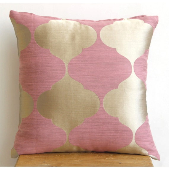 Fancy Decorative Pillows For Couch : Designer Pink Accent Pillows 16x16 Jacquard Throw