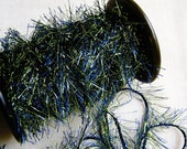 Peridot Midnight Blue Jewel Tinsel Sparkly cording trim- craft trim, glitter twine, wedding craft embellishment, doll miniature making-5 yds