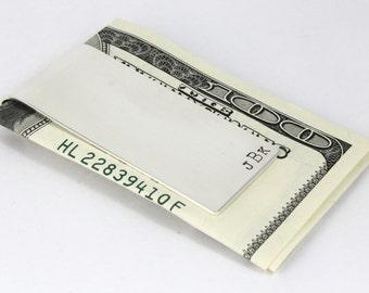 Sterling Silver Money Clip - Personalized Money Clip - Custom Money Holder - Groomsmen Gift - Best Man Gift - Christmas Gift For Dad