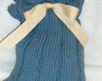 KNITTED---Gift Bag with Drawstring