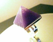 NEW SupHerOrgone Amethyst Orgone Pyramid Ring