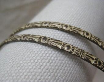 Silver White Bracelets Bangles Vintage