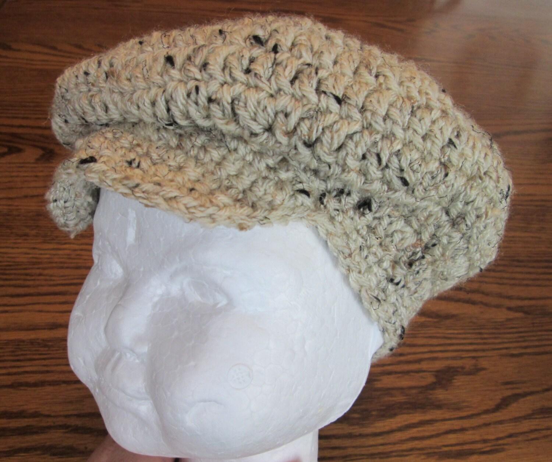 Crochet Golf Hat Irish Flat Hat Newsboy hat Photo prop