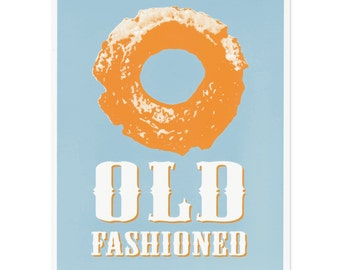 Old Fashioned Donut Screenprint