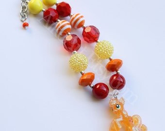 Crystal Empire Applejack Chunky Necklace Rainbow Dash