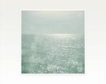 Sea Photography, Ocean Art, Nature Photograph, Coastal Decor, Seascape, Minimalist Art, Abstract, The Silver Sea