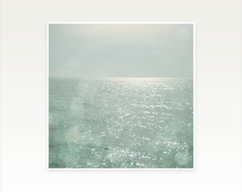 Sea Photography, Ocean Art, Nature Photograph, Coastal Decor, Seascape, Minimalist Art, Abstract, The Silver Sea