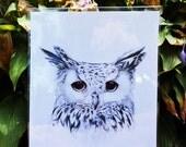 """White Eagle Owl Print 8""""x10"""""""