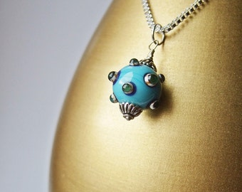 Mine, Not Yours  - Lampwork & Silver Necklace