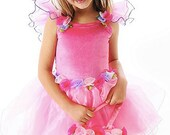 Size 1 - 8 yrs pink princess fairy dress with wings
