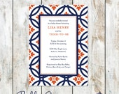 Auburn SEC themed Baby Shower Invitation
