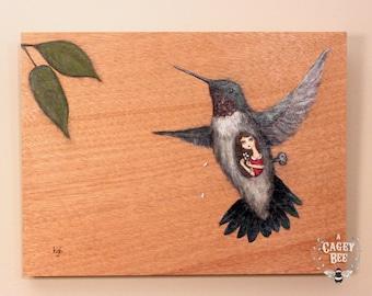 Original Painting - the Hummingbird's Song - art by Kris G. Brownlee