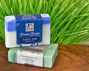 Two bars of soap for your man in all natural earthy combinations