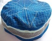 Blue Ultrasuede (TM) Kippah