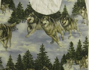 XX Bib * Winter Wolf Pack *  Adult Bib Elder and Pregnancy Protection Bib This Design 20 Years Proven