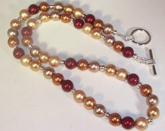 Swarovski Pearl Jewelry  - Bride, Bridesmaid, Maid of Honor - Swarovski Autumn Assortment