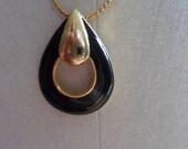 Goldtone 1980s pendant