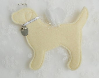 Yellow Lab Angel Ornament - FREE Personalization