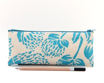 Organic Cotton Pencil Case - Bud Motif, Back to School