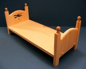 Stackable Single American Girl Doll Bed with Dragonfly 18 inch Furniture