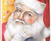 Personalized 11x14 Santa print.
