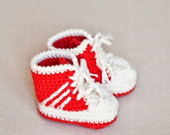 Crochet PATTERN - Baby Sneakers (tennis shoes)