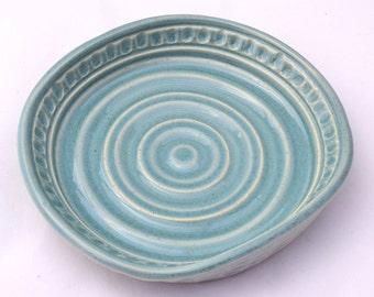 Soap Dish in Robin's Egg Blue - Ceramic Stoneware Pottery