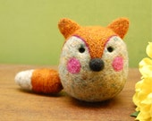 Needle Felted Fox Wool Egg Toy Made to Order
