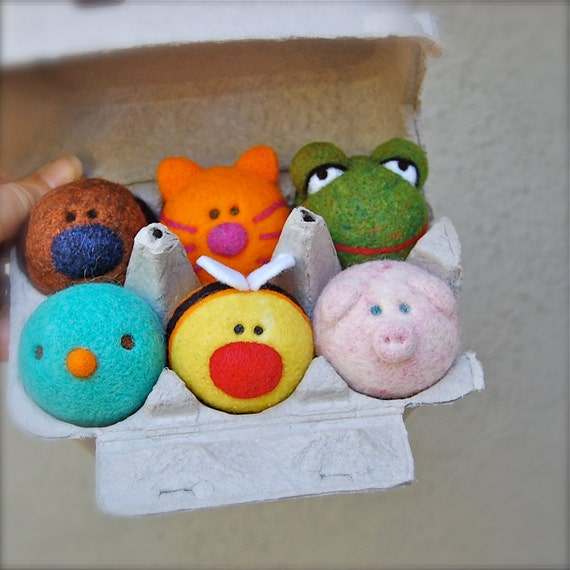 Set of Needle Felted First Baby Sounds Made to Order