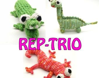 Rep-Trio Reptile Patterns Instant PDF Downloads