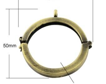3 Floating Lockets, Jewelry Shadow Box Pendants, vintage gold, G2055