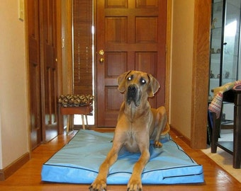 X Large Dog Bed Cover 1000 Denier Polyester 100% Waterproof 48x48x4 Choose Color Of Cover And Piping From 16 Colors